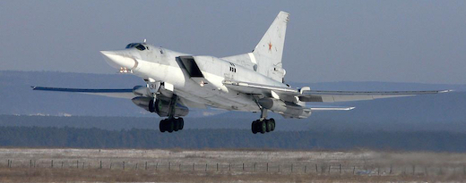 Rumors say that Russia plans to deploy Tu-22M3 intermediate-range bombers (see here with two AS-4 nuclear-capable cruise missiles) to Crimea.