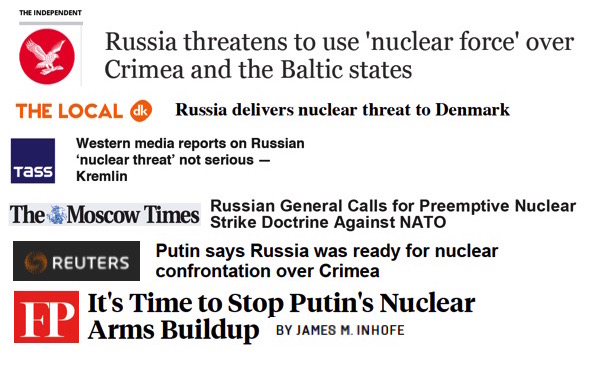 Russian nuclear threats appear to conflict with Russia's nuclear strategy.
