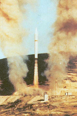 A DF-5 ICBM is launched from a silo. The Pentagon says China has equipped some of its DF-5s with MIRV.