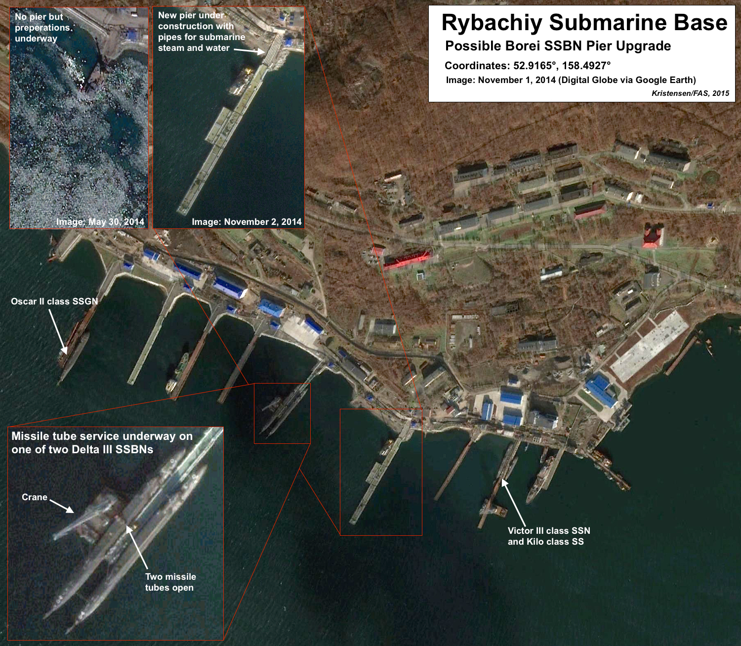 Upgrades at Rybachiy submarine base. Click to see full size image.