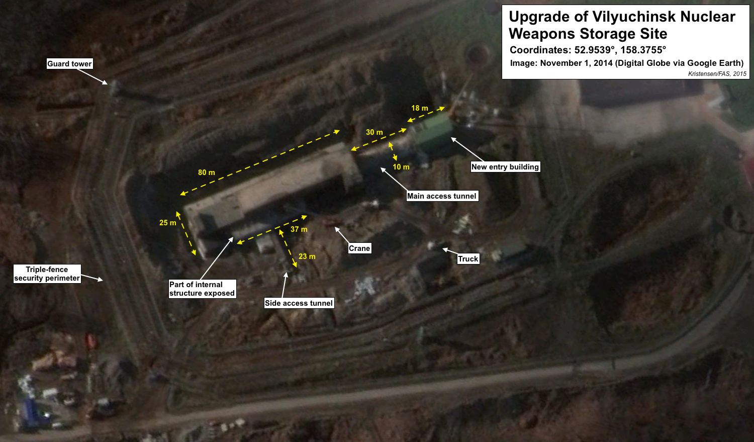 Upgrade of Vilyuchinsk nuclear weapons igloo. Click to see full size image.