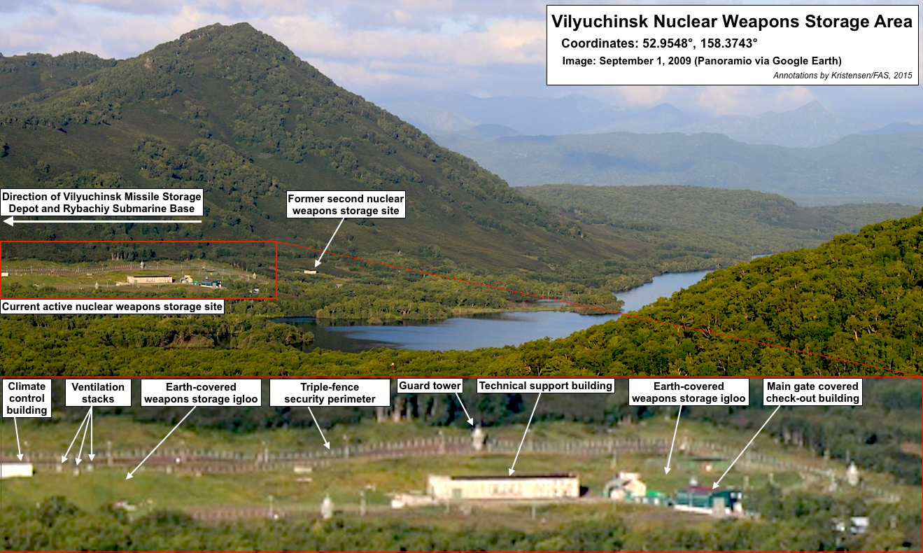 Vilyuchinsk nuclear weapons storage area. Click to see full size image.