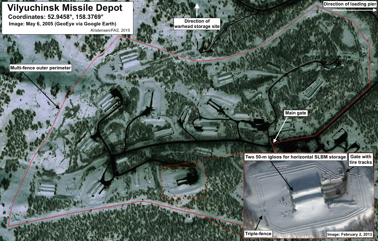 Vilyuchinsk missile depot. Click to see full size image.