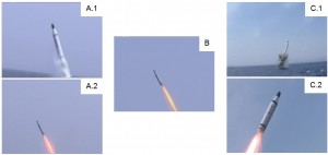 Figure 8. Launch video sequence
