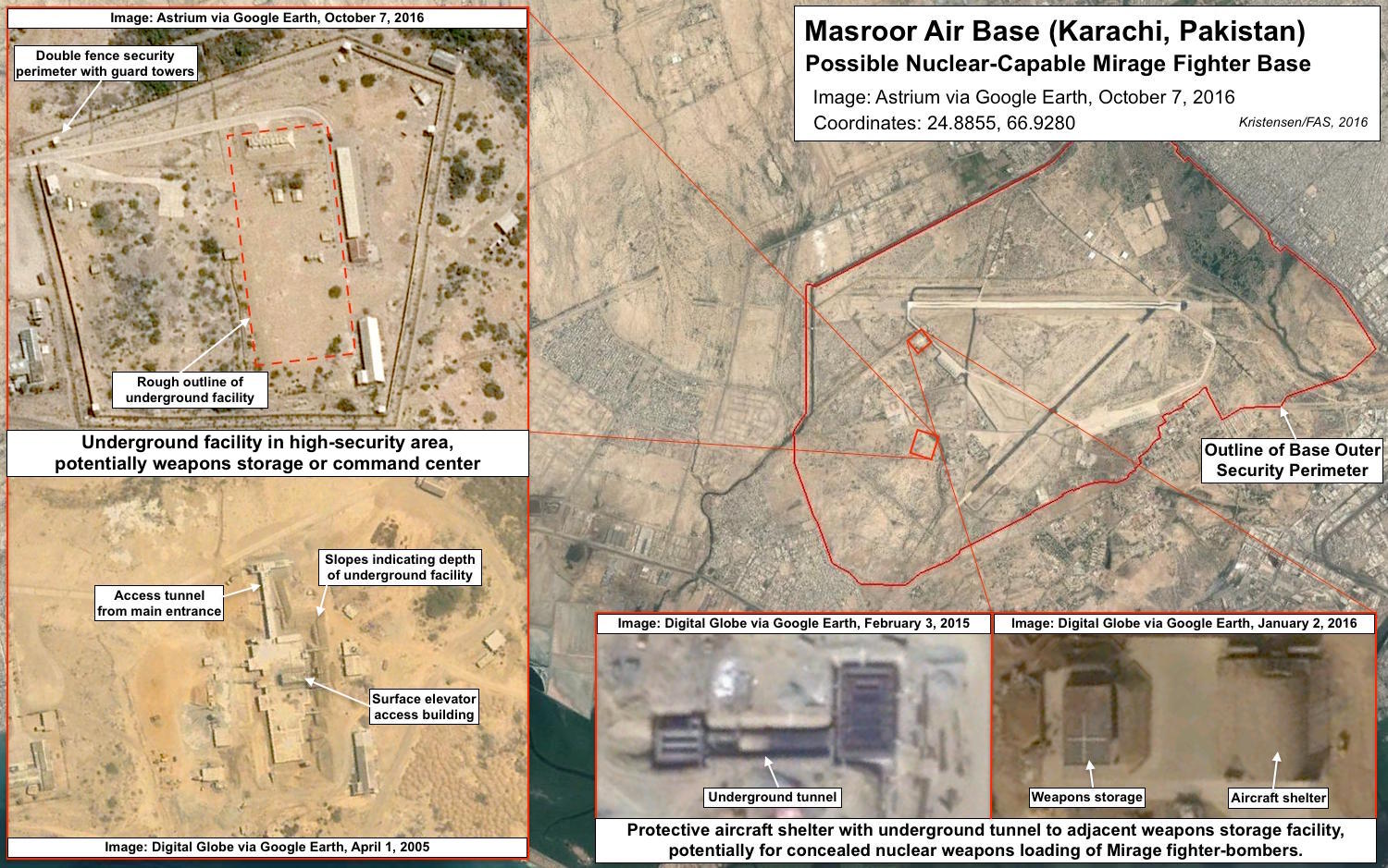 Pakistans Evolving Nuclear Weapons Infrastructure Federation Of - Us-nuclear-arsenal-map