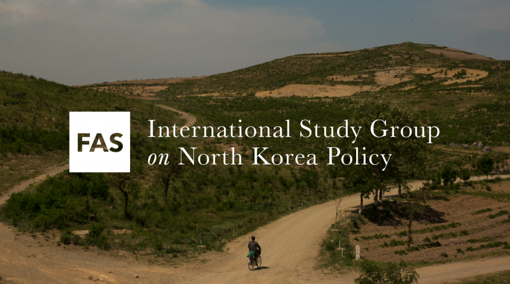 d6368ee90c8 FAS International Study Group on North Korea Policy Releases Report