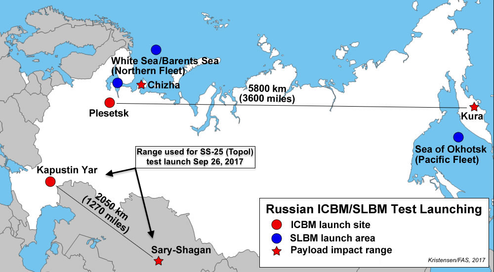 Russia Launches ICBM At INF Range But Its No INF Violation - Us icbm range map