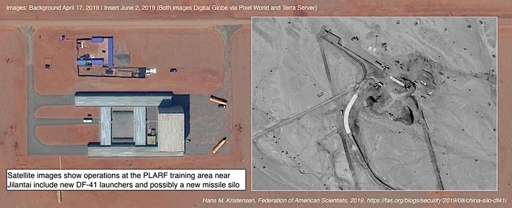 New Missile Silo And DF-41 Launchers Seen In Chinese Nuclear