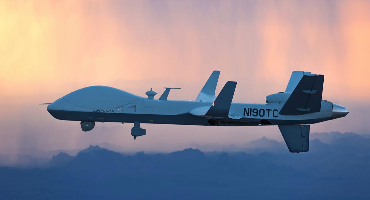 Warning: SkyGuardian Drone Takes Flight Over Southwest US