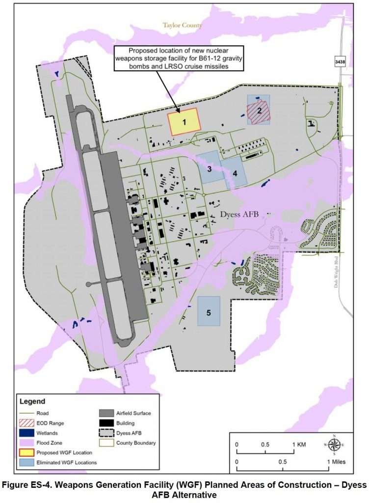 The Air Force plans to add nuclear weapons storage capacity to Ellsworth Air Force Base in South Dakota.