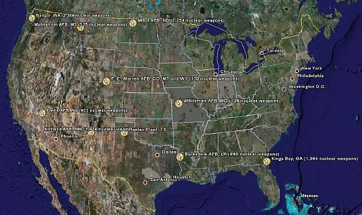 New Article Where The Bombs Are - Us nuclear silos map