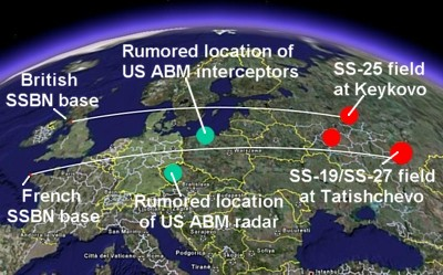Targeting Missile Defense Systems - Map of us missile defense systems