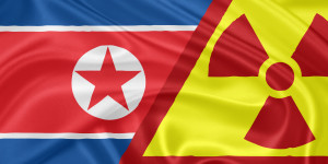 North Korea flag nuclear